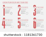 one two three four five six  ... | Shutterstock .eps vector #1181361730