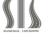set road icon vector | Shutterstock .eps vector #1181364040