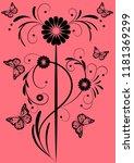 florid floral pattern... | Shutterstock .eps vector #1181369299