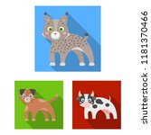 toy animals flat icons in set... | Shutterstock .eps vector #1181370466