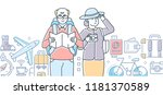 traveling   modern colorful... | Shutterstock .eps vector #1181370589