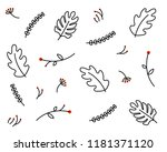 leaves pattern background.... | Shutterstock .eps vector #1181371120