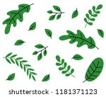leaves pattern background.... | Shutterstock .eps vector #1181371123