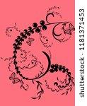florid floral pattern... | Shutterstock .eps vector #1181371453
