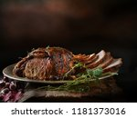 perfectly oven roasted joint of ... | Shutterstock . vector #1181373016