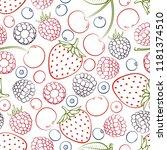 seamless pattern from falling...   Shutterstock .eps vector #1181374510