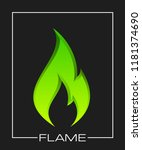 flammable symbol. icon with... | Shutterstock . vector #1181374690