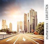 avenue in modern city   Shutterstock . vector #118137526