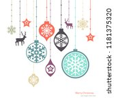 christmas decorations. vector... | Shutterstock .eps vector #1181375320