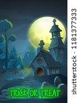 halloween party poster... | Shutterstock .eps vector #1181377333