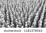 3d rendering  abstract crowd | Shutterstock . vector #1181378563