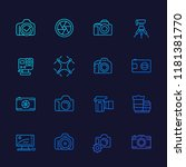 photography line vector icons ... | Shutterstock .eps vector #1181381770