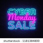 cyber monday vector  discount... | Shutterstock .eps vector #1181384800