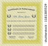 yellow classic certificate... | Shutterstock .eps vector #1181385529