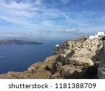 caldera view against the aegean ... | Shutterstock . vector #1181388709