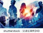 handshaking business person in... | Shutterstock . vector #1181389243