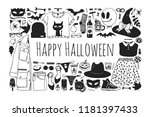 hand drawn illustration outfit... | Shutterstock .eps vector #1181397433