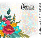 floral frame with colorful... | Shutterstock .eps vector #1181403460