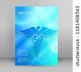 blue medical background... | Shutterstock .eps vector #1181408563