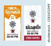 happy halloween invitation...   Shutterstock .eps vector #1181421049