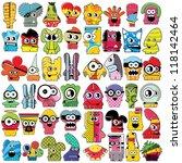 monsters   vector set | Shutterstock .eps vector #118142464