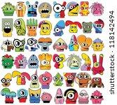 monsters   vector set | Shutterstock .eps vector #118142494