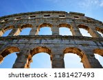 the roman amphitheater in pula  ... | Shutterstock . vector #1181427493