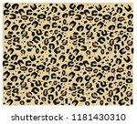 leopard pattern design  vector... | Shutterstock .eps vector #1181430310