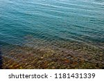 crystal clear sea water and... | Shutterstock . vector #1181431339