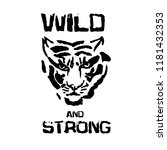 wild and strong. tiger head... | Shutterstock .eps vector #1181432353