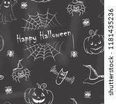 happy halloween background....   Shutterstock .eps vector #1181435236
