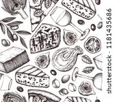 italian food and drinks... | Shutterstock .eps vector #1181435686