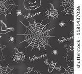 halloween background. seamless...   Shutterstock .eps vector #1181437036