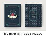 christmas greeting card design... | Shutterstock .eps vector #1181442100