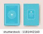 christmas greeting card design... | Shutterstock .eps vector #1181442160