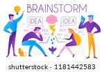 brainstorm. team working.... | Shutterstock .eps vector #1181442583
