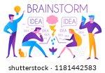 brainstorm. team working.... | Shutterstock .eps vector #1181442583