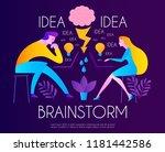 brainstorm. team working.... | Shutterstock .eps vector #1181442586