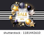 realistic glossy and... | Shutterstock .eps vector #1181442610