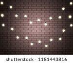 christmas lights isolated... | Shutterstock .eps vector #1181443816