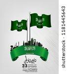 saudi arabia national day in...   Shutterstock .eps vector #1181445643