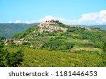 motovun town in istria region ... | Shutterstock . vector #1181446453