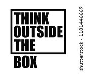 think outside the box.... | Shutterstock .eps vector #1181446669