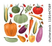 collection of ripe fresh... | Shutterstock .eps vector #1181447089