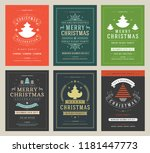 christmas party posters design... | Shutterstock .eps vector #1181447773