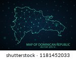 map dominican republic. wire... | Shutterstock .eps vector #1181452033