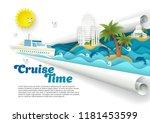 cruise time poster banner... | Shutterstock .eps vector #1181453599