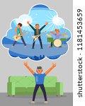 virtual reality concert. vector ... | Shutterstock .eps vector #1181453659