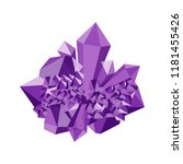 amethyst. precious stone ... | Shutterstock .eps vector #1181455426