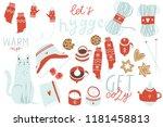 big set of cute vector... | Shutterstock .eps vector #1181458813